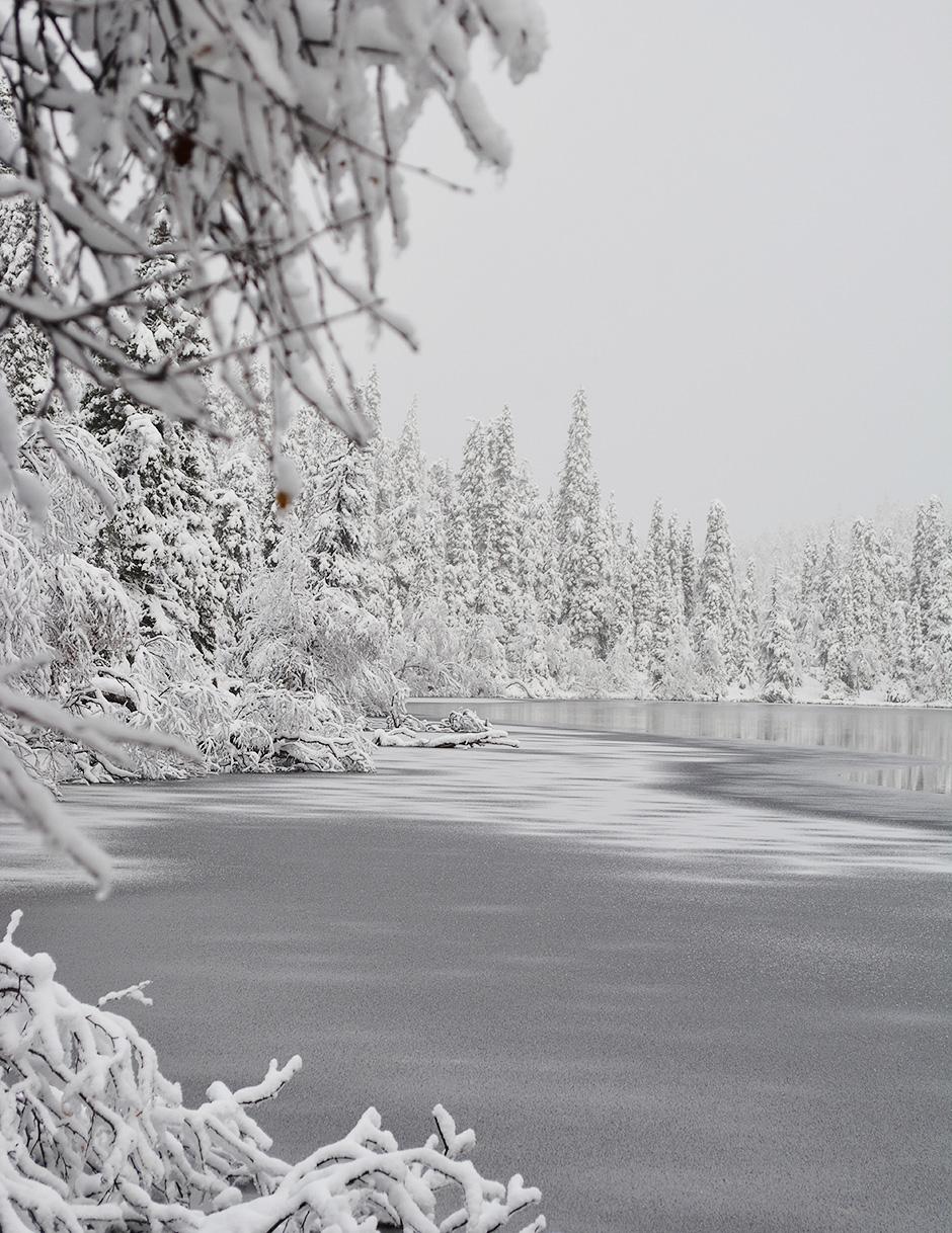 Valtavaaranlampi talvella