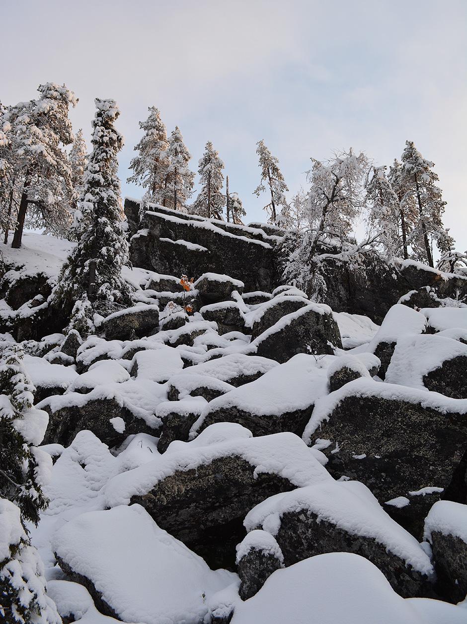 Valtavaaran reitillä isoja kiviä