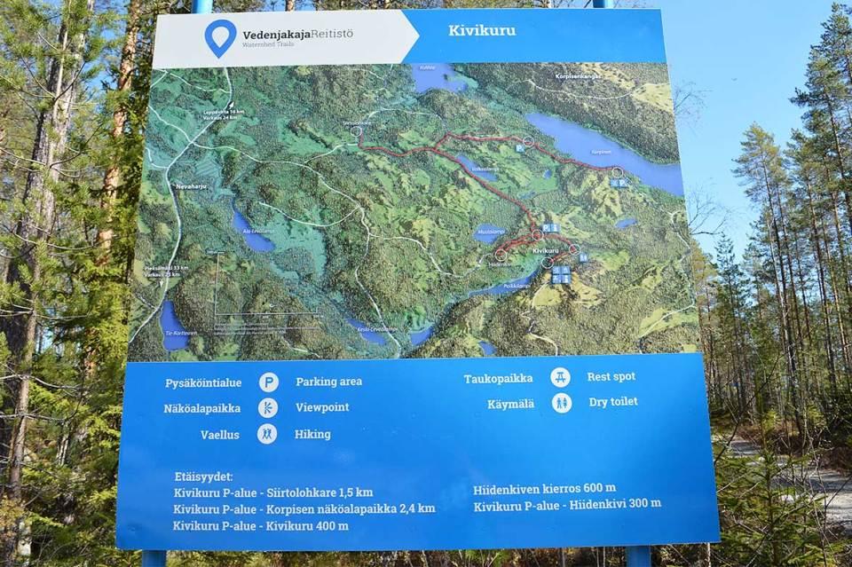 Jäppilän kivikurun aluekartta