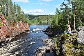 Kiutaköngäs ja Hiiden hurmos Oulangan kansallispuistossa