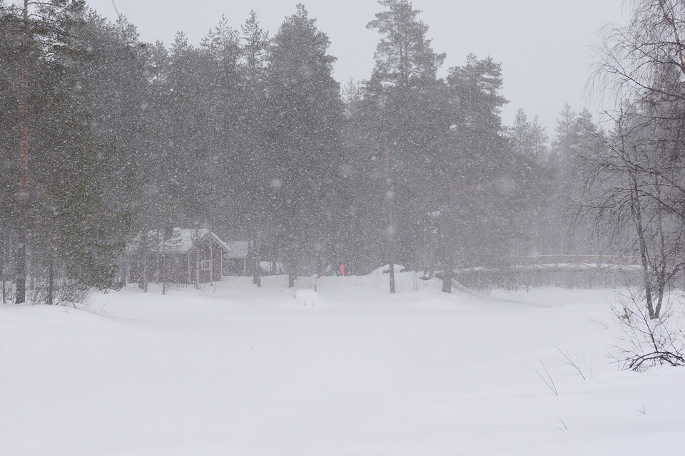 Uitonkämppä talvella